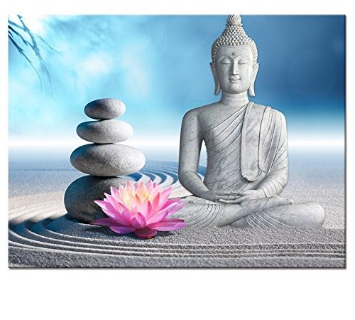 Buddha Canvas Wall Art Framed And Stretched Large Size